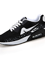 Men's Sneakers Spring / Fall Styles / Round Toe Tulle / PU Casual Flat Heel Lace-up Black / Blue / Red Sneaker