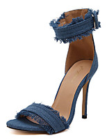 Women's Sandals Summer Sandals / Open Toe PU Casual Stiletto Heel Others Black / Blue Others