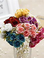 Hi-Q 1Pc Decorative Flower Camellia Wedding Home Table Decoration Artificial Flowers