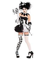 Costumes Esprit / Zombie / Vampire Halloween / Noël / Carnaval / Nouvel an Blanc / Noir Vintage Térylène Robe / Gants / Collier / Coiffure