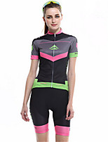 Sport Fahhrad/Radsport Trainingsanzug / Kleidungs-Sets/Anzüge Damen Kurze ÄrmelAtmungsaktiv / Hohe Atmungsaktivität (>15,001g) /