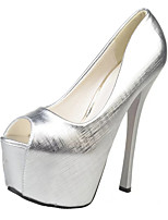 Women's Heels Spring / Fall Heels / Peep Toe Leatherette Wedding / Office & Career / Casual Stiletto Heel Slip-on