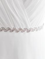 Сатин Свадьба / Вечеринка / ужин / На каждый день Кушак-Бусины / Стразы Женский 250 см Бусины / Стразы
