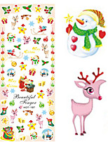 1 pcs Nail Art Water Transfer Christmas Sticker Lovely Christmas Image Nail Decoration HOT197