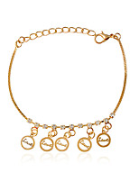 Bracelet Chain Bracelet Alloy Circle Fashion Wedding / Party / Daily / Casual Jewelry Gift Gold,1pc