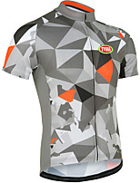 Deportes Bicicleta/Ciclismo Tops Hombres Mangas cortasTranspirable / Cremallera delantera / Listo para vestir / Tejido Ultra Ligero /