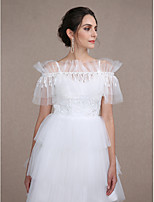 Women's Wrap Capelets Sleeveless Lace / Tulle Ivory Wedding / Party/Evening Scoop Beading / Lace Clasp / Pullover