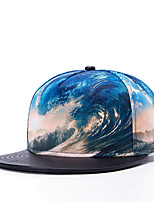 Women Men Fashion Street Dance Baseball Caps 3D Wave Printed Adjustable Cap