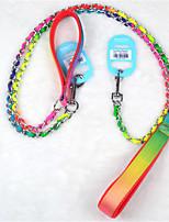 Perros Correas Ajustable/Retractable Arco iris Metal / Textil