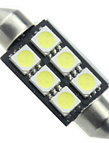 10pcs Canbus 6SMD 5050 36MM White Festoon Dome Light LED Bulbs(DC12V)