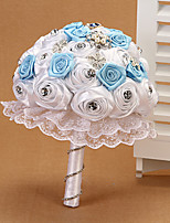 Wedding Flowers Round Roses Bouquets Wedding Polyester 7.87