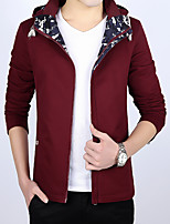 Fashion hooded cotton jacket m new 2016 Korean Japanese young men's spring thin coat tide
