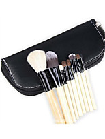 9 Makeup Brushes Set Horse / Goat Hair Full Coverage Wood Face ShangYang(Brush Package)