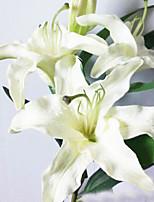 Poliéster Decoraciones de la boda-1Piece / Set Flor Artificial Nochevieja / Boda tema rústico Blanco / RosaPrimavera / Verano / Otoño /