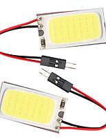 10pcs T10 COB 21 SMD LED Light Panel Car Auto Interior Reading Map Parking Bulb Lamp BA9S Festoon Dome (DC12V)