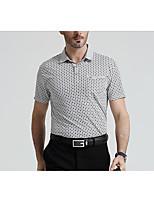 Herren Übergröße Polo - Verziert Kurz Baumwolle