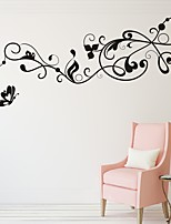AYA™ DIY Wall Stickers Wall Decals,Butterflies Over Flowers Type PVC Panel Wall Stickers  35*108cm