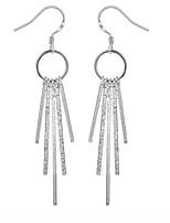 Personality OL Fine S925 Silver Simplicity Tassel Drop Earrings for Women Wedding Party Jewelry
