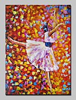 Hand Painted Modern Abstract Ballet Girl Oil Painting On Canvas Wall Art With Stretched Frame Ready To Hang 75x100cm