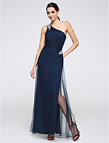 TS Couture® Formal Evening Dress Sheath / Column One Shoulder Floor-length Tulle with Crystal Detailing