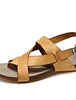 Sapatos Masculinos-Sandálias-Amarelo / Cinza-Couro-Casual