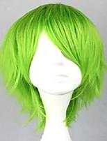 sem tampa traje peruca verde sintético curto encaracolado peruca de cabelo cosplay peruca 3 cores