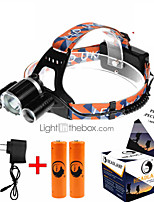 Faixa Para Lanterna de Cabeça LED 4.0 Modo 5000ML Lumens Recarregável / Tamanho Compacto / Alta Intensidade Cree XM-L T6 18650.0Campismo