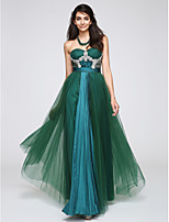 TS Couture® Formal Evening Dress A-line Sweetheart Floor-length Tulle with Lace / Crystal Detailing /Ruching / Sequins