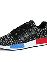 Men's Flats Spring / Fall Flats Tulle Casual Flat Heel Others / Lace-up Black / Blue / Red Others