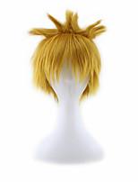 Women/Men's Short Blonde Mixed  Cosplay Wigs Free Hairnet