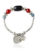 Chaînes & Bracelets 1pc,Bohemia style Forme Ovale Noir / Jaune Alliage Bijoux Cadeaux