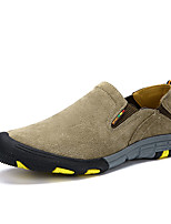 Men's Sneakers Spring / Fall Comfort / Round Toe Fabric Casual Flat Heel Others Brown / Gray / Khaki Walking