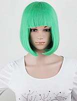 Una cualidad! 10 colores bob mujeres pelucas cortas de las señoras negras pelucas sintéticas cortas mujeres cosplay pelucas de pelo rectas