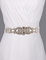 Satin Wedding / Party/ Evening / Dailywear Sash - Sequins / Beading / Pearls / Rhinestone Women's Sashes