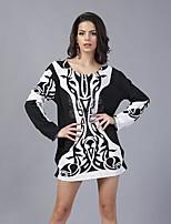 En couleur Femme Col Arrondi Manche Longues Mini Robes-145