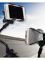 360 Degree Rotatable Double Clip On Vehicle Mobile Phone Support Bracket GPS Navigation Support