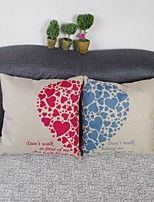 Set Of 2 Sweetheart  Linen Pillow Cover