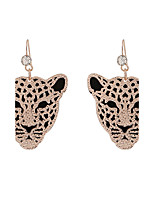 Fine Jewelry European Style High-Grade Charms Fashion Leopard Head Zinc Alloy Earrings