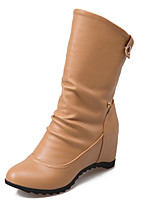 Women's Boots Spring / Fall / Winter Fashion Boots Leatherette Wedding / Party & Evening / Dress / Casual Wedge Heel