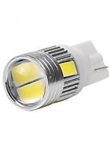 10pcs t10 5630 6smd DC12V 5colors len lâmpada porta, lâmpada de inspeção da placa de licença luz de leitura luz