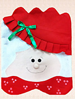 1pc Non-woven Chair Cover Christmas Mrs Santa Claus Lady Bowknot Decoration Party Supplies
