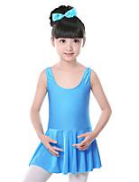 Vestidos(Azul / Fucsia / Rosa,Espándex,Ballet) -Ballet- paraNiños Frunce Entrenamiento
