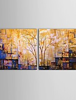 Ready To Hang Hand-painted Abstract Thick Landscape Oil Painting Restaurant Wall Art Decorate Stretched Frame