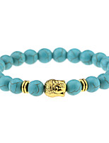 Fashion Natural Stone Accessories Beads Bracelets Jewelry Men / Women Gold / Silver Buddha Turquoise Bracelet