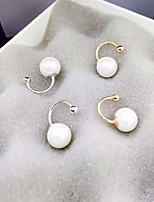 Earring Circle Jewelry Women Fashion Daily / Casual Pearl / Alloy 1 pair Gold