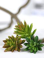 1 Rama Plástico Plantas Flor de Mesa Flores Artificiales