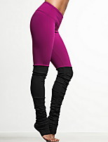 Yoga Pants Breathable / Stretch Natural Stretchy Sports Wear Pink / Black / Blue Sports Yoga