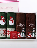 4 Pcs Full Cotton Bath Towel Set(4 Hand Towels) Super Soft Christmas Gift With Gift Box