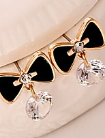 Earring Bowknot Drop Earrings Jewelry Women Fashion Daily / Casual Alloy 1pc Gold / Silver