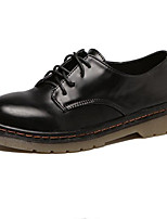 Women's Oxfords Fall Comfort Leatherette Outdoor Flat Heel Lace-up Black / Burgundy Others